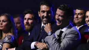 Buffon distinguished Messi from Ronaldo