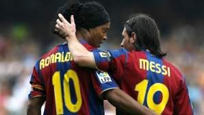 Ronaldinho for Messi:I knew he was better than me
